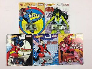 HOT-WHEELS-POP-CULTURE-2017-WOMEN-OF-MARVEL-SET-OF-5-CARS-IN-STOCK
