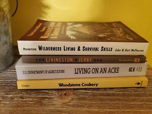 Primitive Wilderness Living & Survival Skills Book Lot John & Geri McPherson