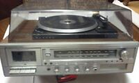 Antique Vintage Sears AM FM MPX Stereo System 8-track Cassette Record LP Vinyl