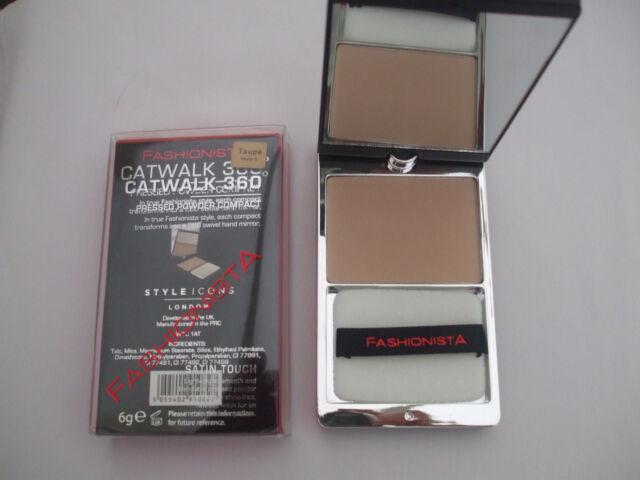 Fashionista Catwalk 360 Pressed Powder Compact Sand New