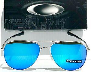 ec63dcf3d30 Oakley ELMONT M in CHROME AVIATOR w PRIZM Sapphire Sunglass 4119-10 ...