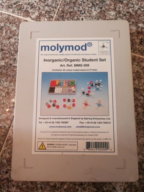 419PCS Chemistry Molecular Model Kit Organic /& Inorganic Modeling Student Teacher Set with 179 Atoms /& 240 Bonds Academic Chemistry Education for University College Professors Brisk Learner Scientist