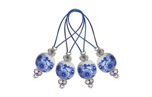 KnitPro 12st maschenmarkierer blooming Blue ideal para marcar 11256