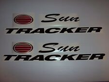 44 inch Sun tracker Pontoon decals chrome and red sun
