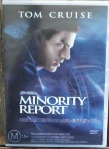 1 of 1 - MINORITY REPORT       Region 4  DVD        Tom Cruise                      (929)
