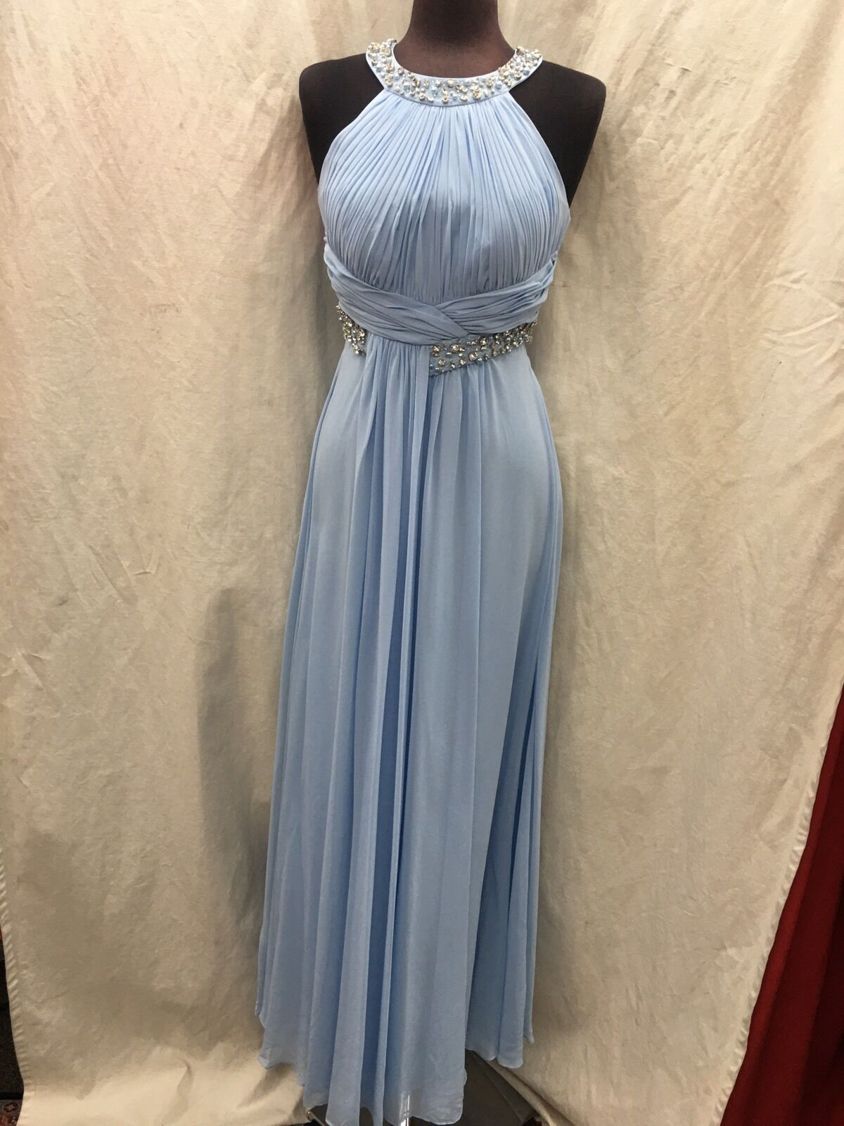 ELIZA J LONG GOWN SIZE 10 LIGHT blueE NEW WITH TAG RETAIL LENGTH 60