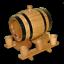 6x Becher Gravur Weinfass Fass Partyfass Holzfass 2 Liter Eichenfass