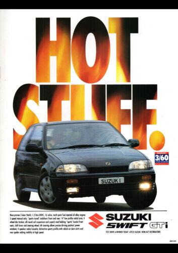"""1995 SUZUKI SWIFT GTI 3 DOOR A4 POSTER GLOSS PRINT LAMINATED 11.7/""""x8.3/"""""""