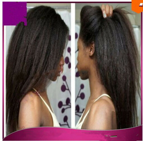 kinky straight Glueless Human Hair Full Lace/Lace Front Wig color 4