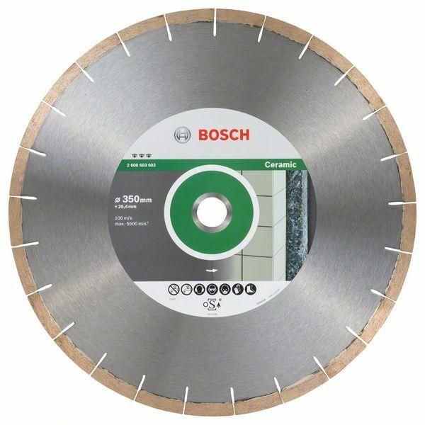Bosch Hoja de Diamante Best Para Cerámica And Piedra, 350 x 25,40 x 1,8 X 10MM