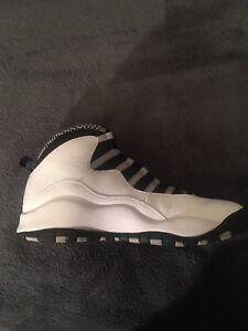 best loved 4bd43 4348d Image is loading Air-Jordan-10-Retro-Steel-White-Black-Steel-