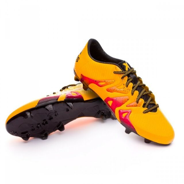 adidas X 15.4 FXG Youth Soccer Cleats Shoes Black Orange Pink Size 5 NEW! db35ce9b46761