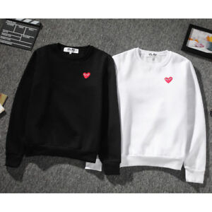f28da24e1d57 Men s Comme Des Garcons CDG Play Hoodie red heart Sweater Play Women ...
