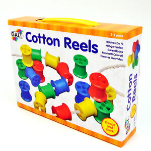 Cotton-Reels-Kids-Learning-Activity-Threading-Sorting-Toy-Galt-for-Age-3