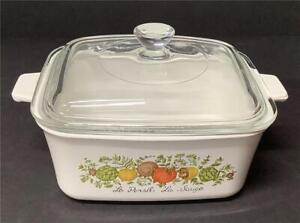 Corning-Ware-P-4-B-1-5-L-Spice-of-Life-casserole-loaf-Excellent-Condition