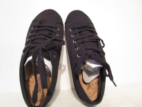 Simple Womens Satire Canvas Casual Low Fashion Lace Sneaker Black Sizes 6-10 M