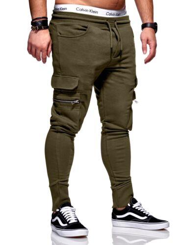 Pantaloni Allenamento Pantaloni Jogging Sport Pantaloni Cargo Pant Grigio Scuro//Nero//Cachi Nuovo