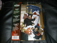 Bucilla Black Bear Bonfire Felt Christmas Stocking Kit