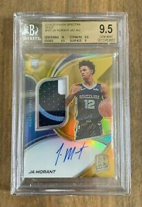 2020-PANINI-SPECTRA-JA-MORANT-ROTY-ROOKIE-PATCH-AUTO-RPA-SP-10-BGS-9-5-SUBS