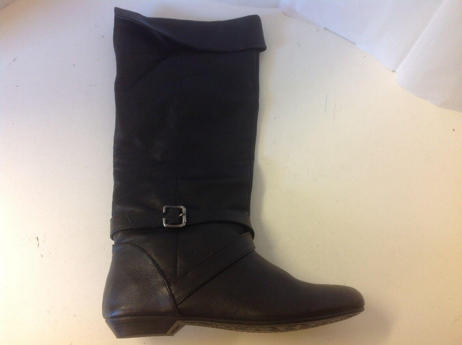 Chinese Laundry Newbie  Boot Black Knee 8  M New Buckle