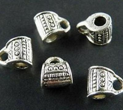 50pcs 22mm Charms Yoga 3D Pendant Tibet Silver DIY Jewelry Charm Pendants H086