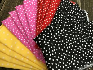 34 Red Polka Dot Cotton Fabric Fat quarter Quilting sewing crafts  cotton fabric Cotton fabric by yard free shipping available SHIPS FAST