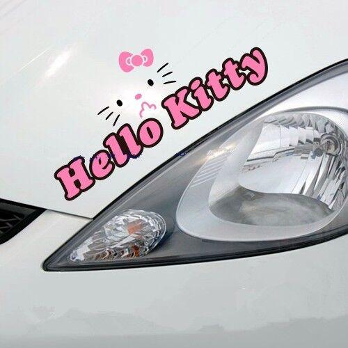 "One Pcs Hello Kitty Car Eyebrow Cute Vinyl Decal Sticker Motors New 11/""×3/"""