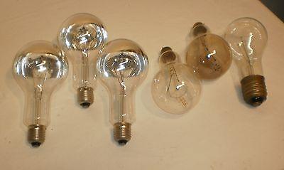 Ampoules types industriel Lot de 6 75 et 150 W Culots E27 E40 B22 voir détails