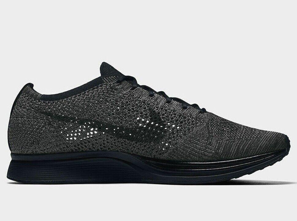Nike Flyknit Racer Unisex Running shoes Triple Black Anthracite 526628 009
