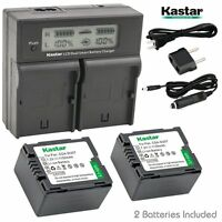 Lcd Dual Fast Charger & 2 X Battery For Panasonic Cgr-du07 Pv-gs31 Vdr-m30 Sdr