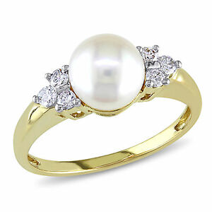 Amour-14k-Gold-Cultured-Akoya-7-7-5-mm-Pearl-and-1-5-Ct-TDW-Diamond-Ring