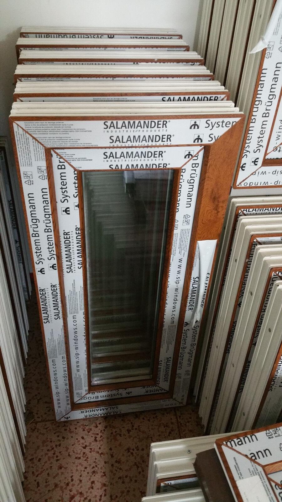 Kunststofffenster Salamander 40x90 cm (b x h), Eiche Gold, 1-flügelig