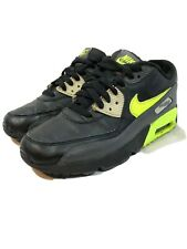 NIKE AIR MAX 90 LTR GS LEATHER 833412 103 WHITE//COOL GREY-ELECTRIC GREEN-BLACK