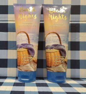 BEACH-NIGHTS-Summer-Marshmallow-Ultra-Shea-Body-Cream-8oz-x2-Bath-amp-Body-Works