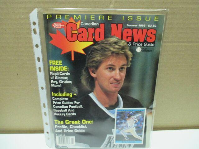 VINTAGE CANADIAN CARD NEWS  PRICE GUIDE - VOLUME # 1 - GRETZKY
