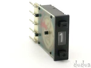 1x-Cherry-Kodierschalter-0-9-BCD-mechanisch-Codierschalter-Vorwahlschalter