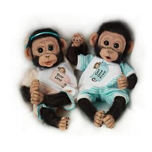 Buy-One-Get-One-Free-8-039-039-Twin-Doll-Monkey-Set-by-Ashton-Drake-NRFB