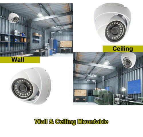 High Resolution 1080p CCTV Security Camera Day Night Vision Outdoor Indoor Home
