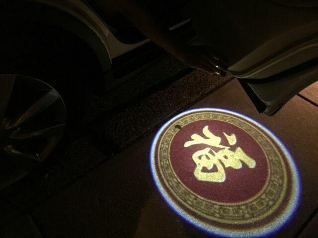 2 X New wireless car door LED logo shadow light projector 224  USA Seller!!!!!!!