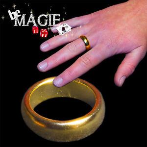 PK Ring Or - Taille au choix - Bague aimantée - Tour de magie
