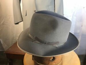 d7cf9cb9488 Image is loading Vintage-Stetson-Gray-Stratoliner-w-replaced-sweatband-Fur-