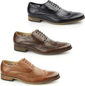 Goor-TOMMY-Mens-5-Eyelet-Lace-Up-Formal-Smart-Leather-Lined-Brogue-Oxford-Shoes