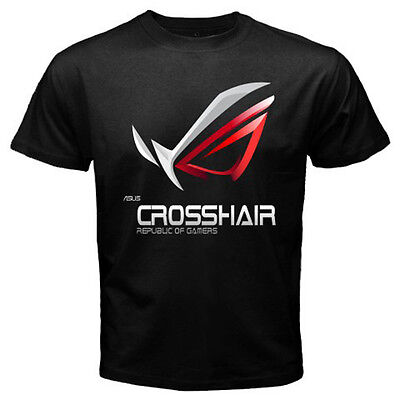 ASUS ROG MASTERS REPUBLIC OF GAMERS CROSSHAIR GAMERS US USA SIZE SIZE T-SHIRT EN