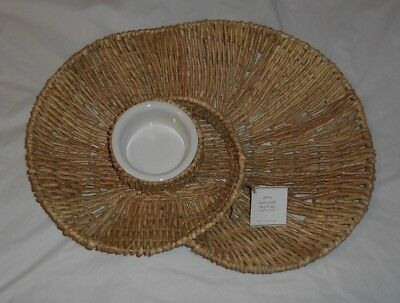 POTTERY BARN Tabletop Woven Shell Chip U0026 Dip Server Tray ...