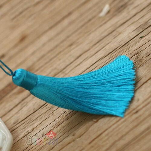 8 cm Ice Silk Tassel Pendentifs Trim Artisanat Porte-clés À faire soi-même Jewelry Making Accessoires