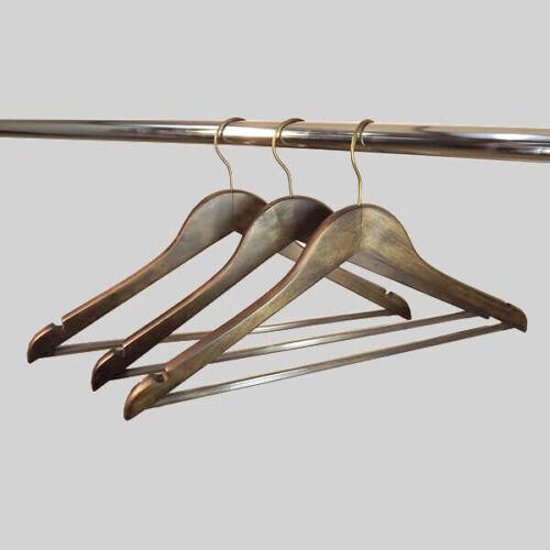 5 Premium Détail Marron Style Vintage bar en bois cintres bronze effet crochet