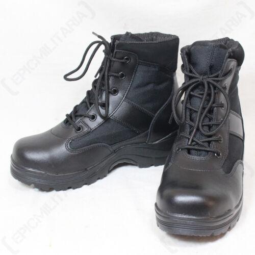 Thinsulate Foderato Stivali Inverno Mezzi Nero Militare Esercito Sicurezza qwO7XnA