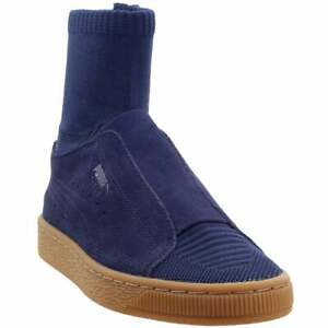 Puma-Suede-Classic-x-Poggy-Sneakers-Casual-Navy-Mens