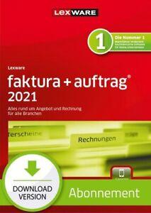 Lexware faktura+auftrag 2021 - Abo Version, Download, Windows