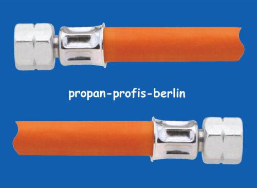 """150 cm Propangasschlauch ÜM 1//4/"""" links x  ÜM 1//4/"""" L Gasschlauch 1500 mm//1,5 m"""